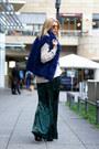 Beige-asoscom-sweater-blue-marc-cain-vest-teal-h-m-pants