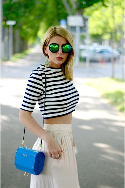 H&M top - Max Mara Sport bag - New Yorker sunglasses - Zara pants