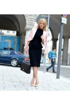 Jimmy Choo shoes - MARC CAIN dress - Zara jacket - Chanel bag