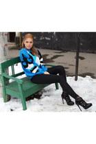 prorsum booties Burberry shoes - elecric blue vintage sweater