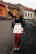 Primark skirt - H&M Trend shirt - Burberry flats