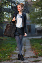 Zara jacket - Burberry shoes - New Yorker skirt - Zara blouse