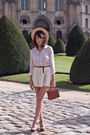Pink-queens-wardrobe-shirt-beige-zara-skirt-brown-vintage-bag-brown-andre-