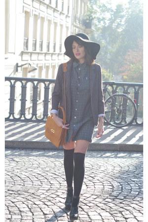 black asos socks - black Zara hat - charcoal gray Silence & Noise jacket