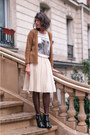 Bronze-american-vintage-cardigan-white-zara-t-shirt-ivory-vintage-skirt-bl