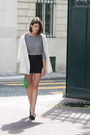Ivory-zara-jacket-green-les-composantes-bag-black-queens-wardrobe-shorts