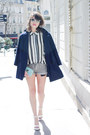 Navy-silence-the-noise-coat-white-sheinside-shirt-sky-blue-liu-jo-bag
