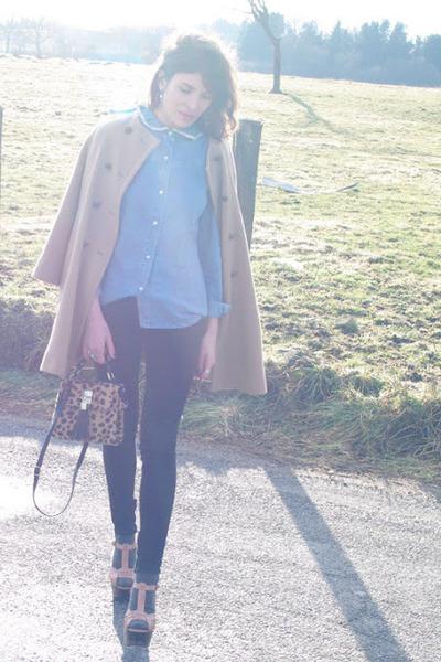American Retro shirt - Zara coat - Levis jeans - Topshop bag - Topshop heels
