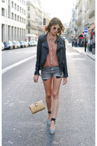 black Zara jacket - camel Queens Wardrobe shirt - beige Zara bag