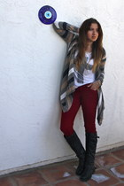 charcoal gray Forever 21 jacket - dark gray Madden Girl boots