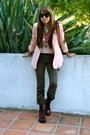 Crimson-target-boots-light-pink-silky-blazer-forever-21-jacket