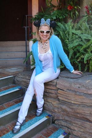 white cookie lee necklace - light blue light denim Victorias Secret jeans