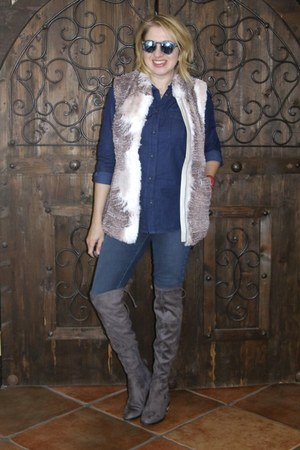 navy jeggins Guess jeans - charcoal gray otk boots Guess boots