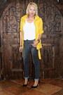 Dark-gray-black-closet-jeans-mustard-tj-maxx-jacket-white-h-m-t-shirt
