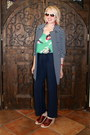 Navy-striped-trench-cabi-jacket-navy-cabi-pants-green-floral-tank-cabi-top
