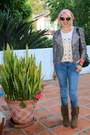 Brown-rugged-boots-steve-madden-boots-blue-patchwork-forever-21-jeans