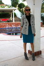 Charcoal-gray-suede-booties-calvin-klein-boots-white-tj-maxx-coat