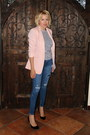 Navy-distressed-jcrew-jeans-light-pink-silky-blazer-forever-21-jacket