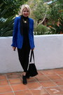 Black-steve-madden-boots-blue-blazer-rock-republic-jacket