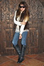 Blue-skinny-blue-forever-21-jeans-charcoal-gray-tall-leather-madden-girl-boots