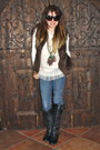 Charcoal-gray-tall-leather-madden-girl-boots-blue-skinny-blue-forever-21-jeans