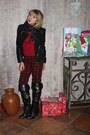 Black-otk-boots-black-forever-21-jacket-red-turtleneck-forever-21-sweater