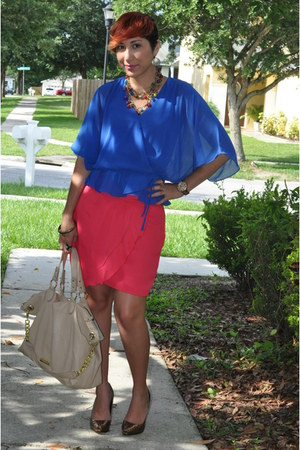 Steve Madden bag - Local store skirt - Marshalls blouse