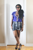 black Fab Candy Clothing skirt - blue guess by marciano top