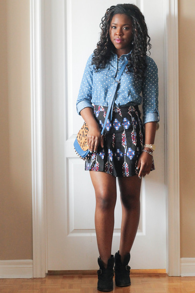 blue Forever 21 skirt