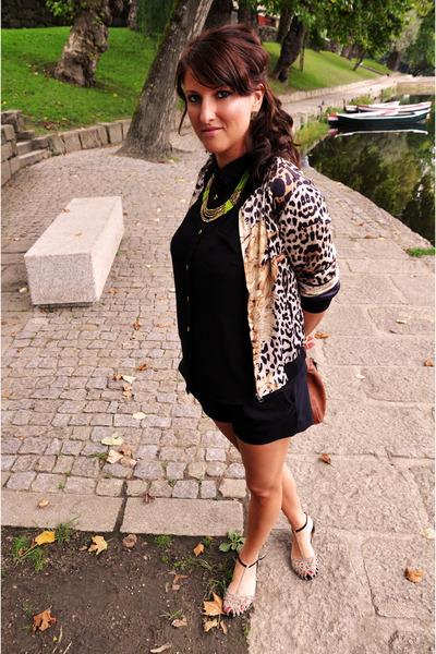 Sheinside jacket - sequined Zara shoes - Pennyes shirt - Zara shorts