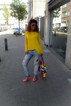 plastic shoes shoes - s H&M sunglasses - work Zara jumper