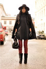 Black-isabel-marant-boots-black-fedora-warehouse-hat-doctors-zara-bag