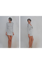 gray H&M Trend dress - beige BLANCO shoes
