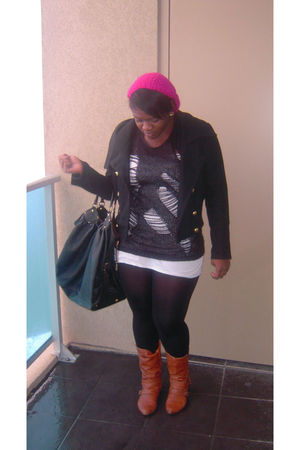 Bakers boots - baby phat jacket - Louis Vuitton purse - sweater