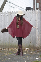 sheer Lush dress - leather Steve Madden boots - felt Urban Outfitters hat