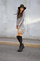 leather sam edelman boots - felt Forever 21 hat