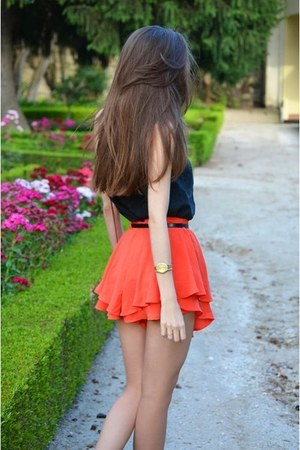 shirt - watch - belt - skirt