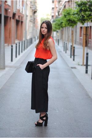 asos sandals - Chanel bag - H&M pants