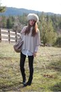 Vintage-hat-h-m-sweater-h-m-leggings-balenciaga-bag