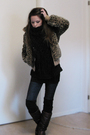 Brown-topshop-jacket-blue-nudie-jeans-brown-vintage-boots-black-zara-blous