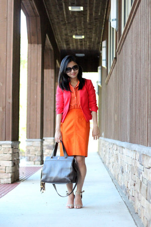 H&M blouse - H&M jacket - ann taylor shirt