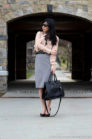 Prada bag - Dolce &amp; Gabbana skirt - American Apparel blouse