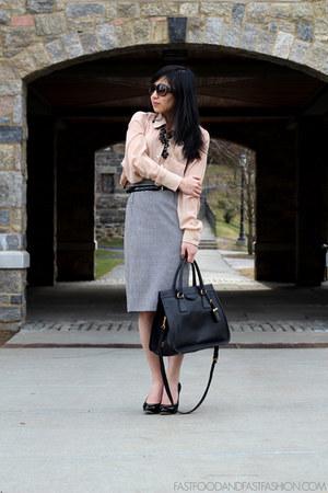 Prada bag - Dolce & Gabbana skirt - American Apparel blouse