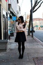 American Apparel shirt - American Apparel skirt - ann taylor belt