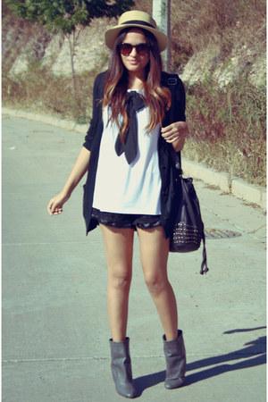 black long Mossimo sweater - black black Zara purse