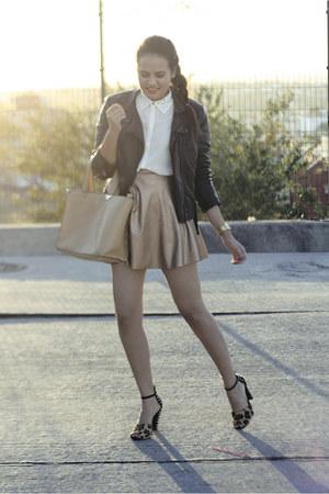 dark khaki metalic shopakira skirt