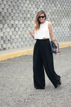 blue 31 Phillip Lim bag - white Zara top - black Forever 21 pants