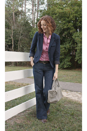 Gap blazer - Old Navy jeans - Aldo flats