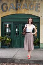 Forever 21 skirt - Gap blouse - Urban Oufitters heels