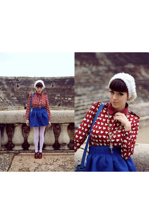 ruby red Choies blouse